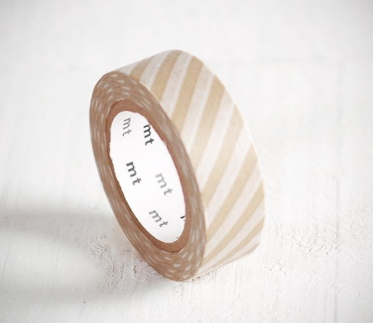 Beige stripped washi tape