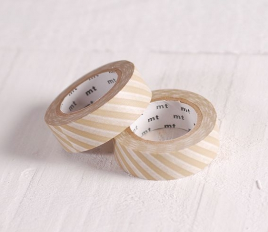 Washi tape rayas beige