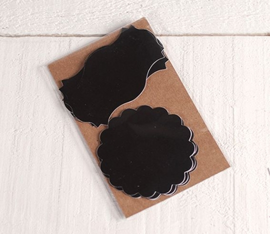 Tag shaped chalkboard stickers