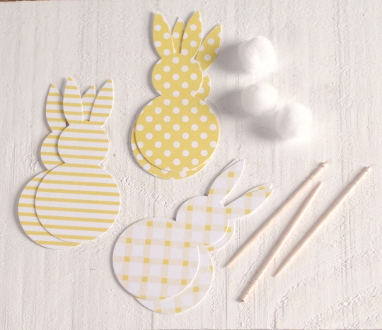 Toppers a forma di coniglietti