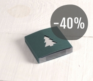 Green box with fir tree