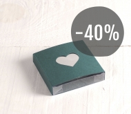 Box with sleeve with heart-shaped window