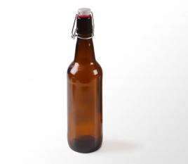 Botella para cerveza con cierre automático