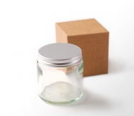 Glass jar for creams or cosmetics