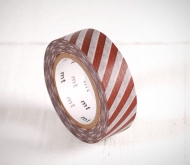 Washi tape with brown stripes
