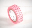 Pink fluorescent washi tape with spots