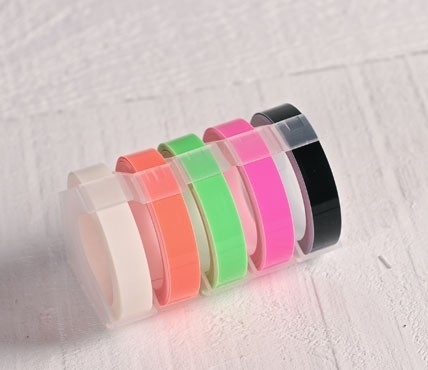 Embossing tape rolls – Neon colours