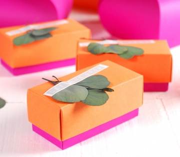 Colourful box for parties