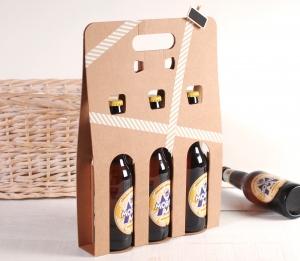 Scatola decorata per 3 birre