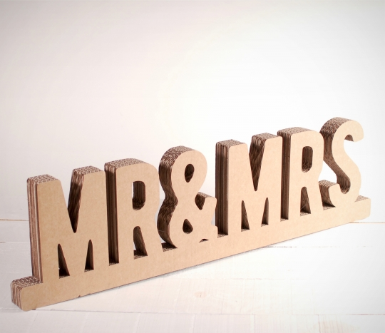 Mr & Mrs en cartón