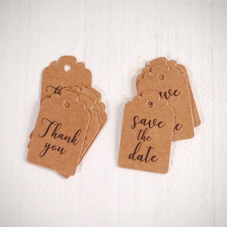Etiquetas decorativas para bodas