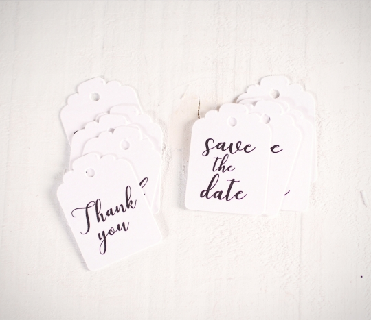 Etichette per i dettagli di nozze