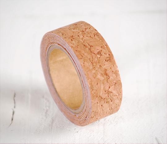 Textured cork washi tape