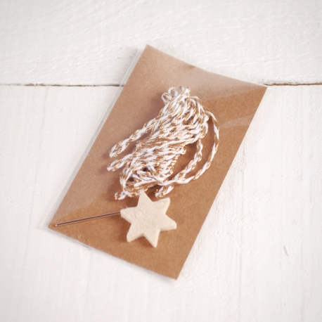 Star with golden thread