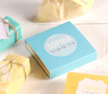 Box for scented salts
