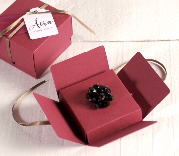 Decorated box for jewellery