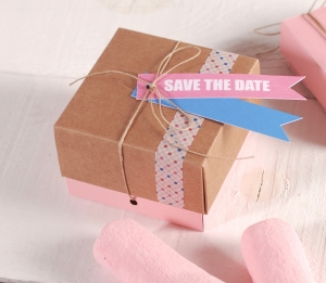 Cajita para entregar en bodas