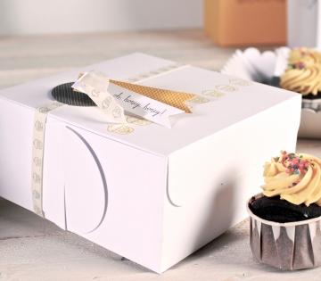 Der Kasten für Cupcakes Verschenken