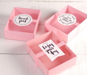 Cute gift box with messages
