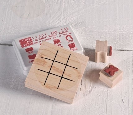 Tic Tac Toe - Rubber stamp set