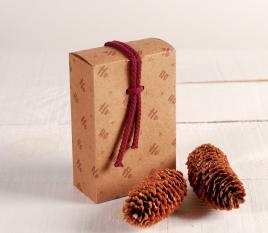 Schachtel mit Schnur Ho Ho Ho