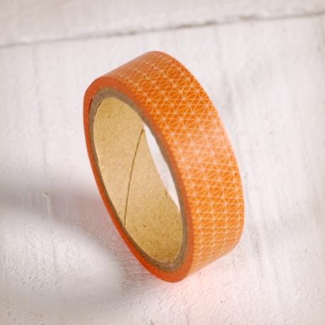 Washi tape geométrico naranja