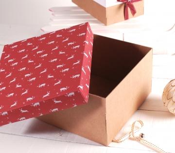 Scatolina decorata per Natale