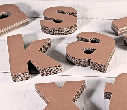 letras de cartn minsculas