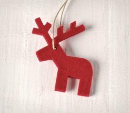 Felt Pendant - Reindeer