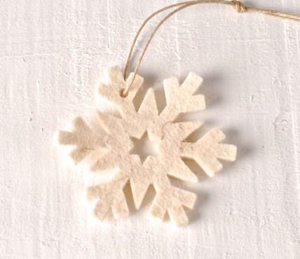 Fiocco di neve in feltro
