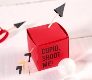Cajita con flechas de Cupido