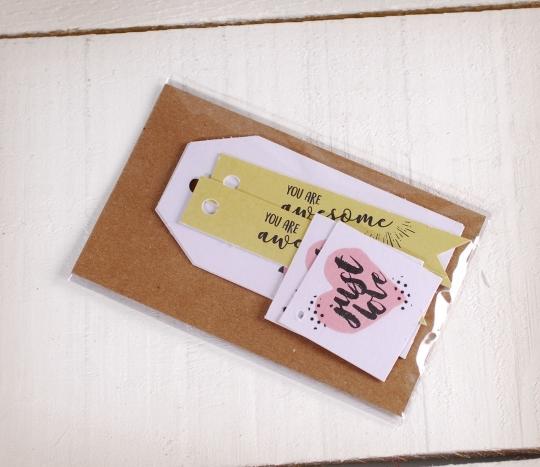 Kit de etiquetas impresas Love