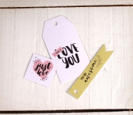 Kit with printed Love labels