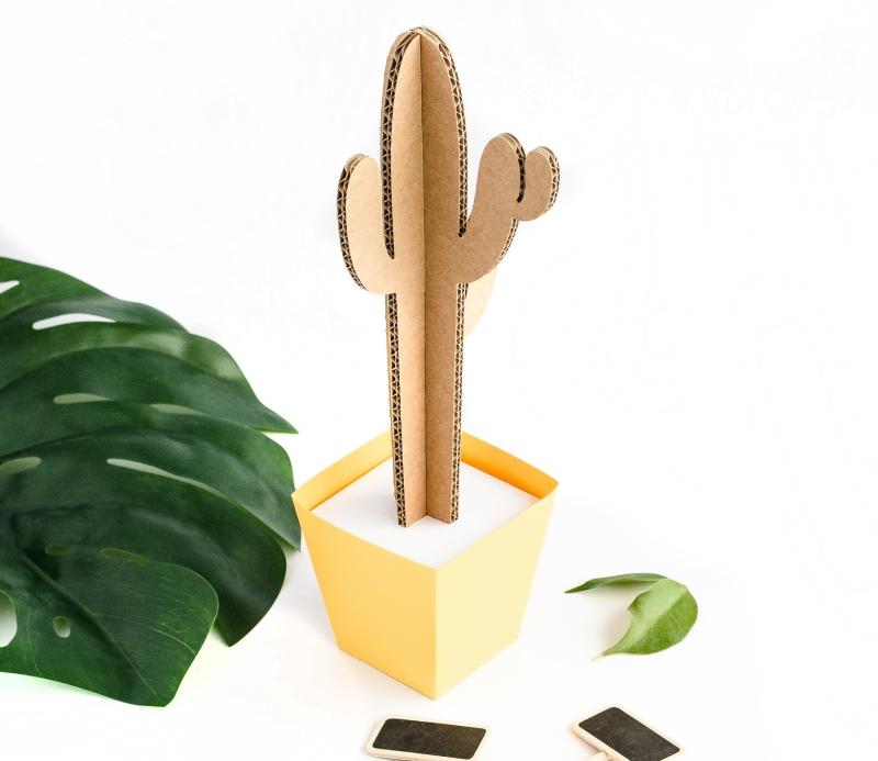cactus alto de cart n en varios colores