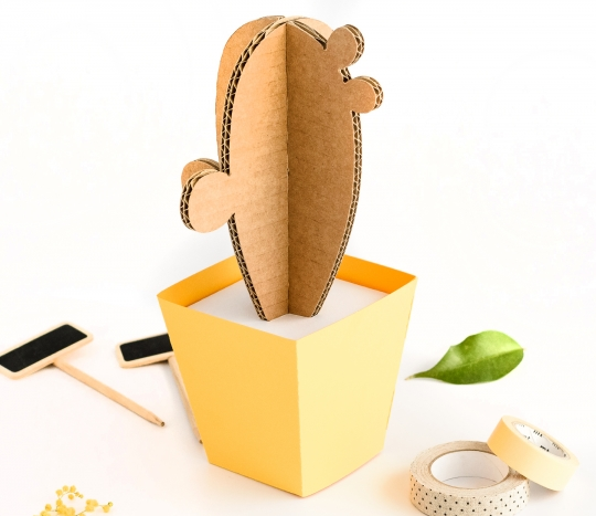 Cardboard Cactus with pot