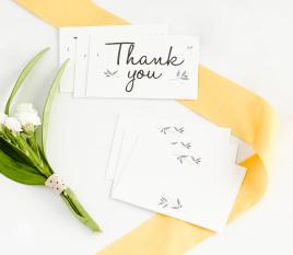 Dankes Karten für Hochzeiten