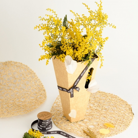 Caja para flores romántica