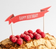 Cake topper: Happy Birthday
