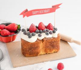 Topper für Torten: Happy birthday