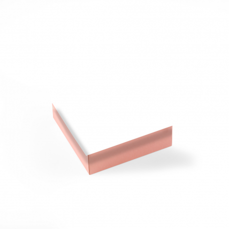 Caja forrada cuadrada