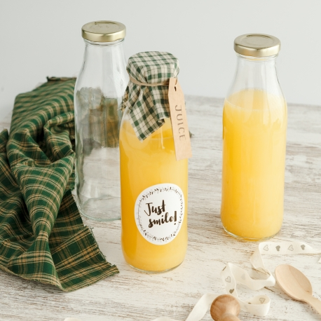 Botella de cristal para zumos