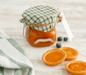 Glass jar for jam