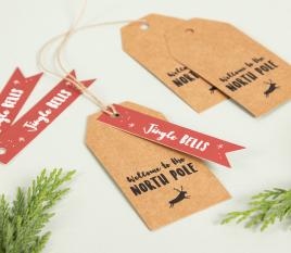 Etichette natalizie Polo Nord