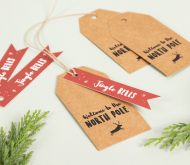 North Pole Christmas labels