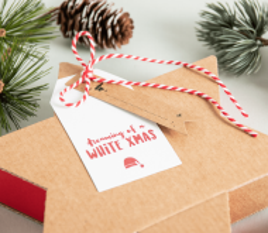 Etichette per regali di Natale