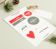 Christmas sticker and label kit