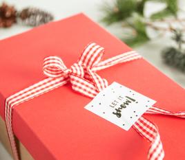 Aufklebe-Set und Weihnachtsetiketten