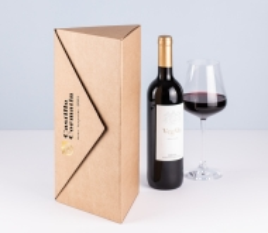 Triangular wine bottle box