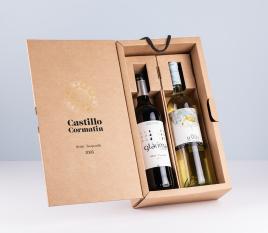 Wine bottle box with hanger