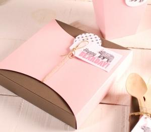 Idea divertente scatolina regalo piatta